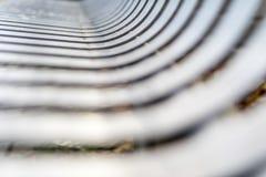 Stäng sig upp av den moderna moderna rostfritt stålgatan eller parkera b Royaltyfria Foton