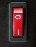 Stäng sig upp av den 'PÅ/AV' strömbrytaren eller maktströmbrytaren Arkivfoto