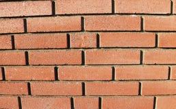 Stäng sig upp av den röda bruna strukturen för tegelstenväggen Arkivfoto