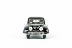 Stäng sig upp av den svarta klassiska tappningbilen, skalamodell Arkivfoto