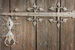Stäng sig upp av det härliga gamla forntida låset med garnering för metallprydnaden Royaltyfria Foton