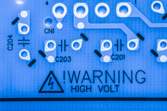 Stäng sig upp av elektroniska strömkretsar i teknologi på brädet för logik för Mainboard datorbakgrund, CPU-moderkortet, det huvu Royaltyfri Fotografi