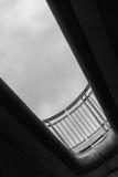 Stäng sig upp av en balustrad av en bro Arkivfoton