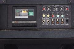 Stäng sig upp av för karaokekassetten för tappning den ljudsignal spelaren Arkivbilder
