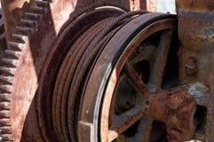 Stäng sig upp av gammal tappning Rusty Mining Equipment som finnas i Jerome Arizona Fotografering för Bildbyråer