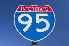 Stäng sig upp av Interstate huvudväg 95 royaltyfri foto
