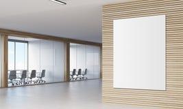 Stäng sig upp av kuggfråga i korridor av företaget vektor illustrationer