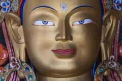 Stäng sig upp av maitreyaen buddha i thikseykloster Royaltyfria Bilder
