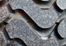 Stäng sig upp av olika metalliska medeldelar royaltyfri bild