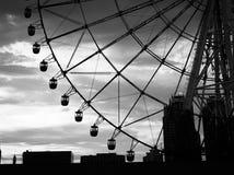 Stäng sig upp av pariserhjulen på Odaiba, Tokyo Arkivfoto