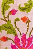 Stäng sig upp av retro tapestrytyg Royaltyfri Fotografi