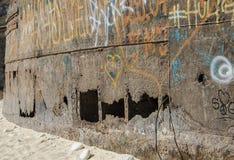 Stäng sig upp av skeppsbrottet Navagio, Zakynthos arkivbilder