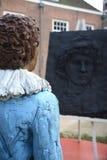 Stäng sig upp av statyn av unga Rembrandt Arkivbilder