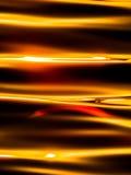 Stäng sig upp av yttersidan av solnedgångsjön Arkivbilder