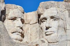 Stäng sig upp bild av Mount Rushmore den nationella minnesmärken med Theodo Arkivbild