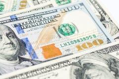 Stäng sig upp bild av pengar, $100 räkningar Royaltyfri Bild