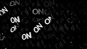 Stäng sig upp för många ord PÅ i vit färg och ström av ljus på svart bakgrund, monokrom djur huvud vektor illustrationer
