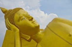 Stäng sig upp head buddha Royaltyfria Bilder