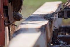 Stäng sig upp på ett bråte för klipp för sågblad Fotografering för Bildbyråer