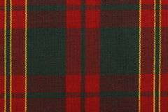 Stäng sig upp på klassiskt rött och grönt tartantyg ovanför direkt royaltyfri fotografi