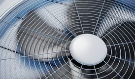 Stäng sig upp sikt på att värma för HVAC-enheter, ventilation och att betinga för luft framförd illustration 3d royaltyfri illustrationer