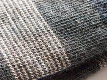 Stäng sig upp textur av varma mjuka sockor som göras av bomull Royaltyfri Foto