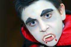 stäng sig upp vampyr Royaltyfri Foto