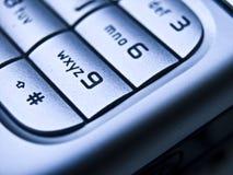 stäng upp den mobila telefonen Arkivfoton