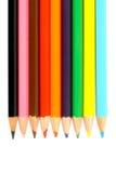 stäng upp kulöra blyertspennor Royaltyfri Bild