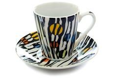 stäng upp maträtten för kaffecolorfullkoppen Royaltyfri Bild