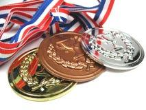 stäng upp medaljer Royaltyfri Bild