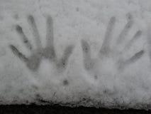 stäng upp snow royaltyfri foto