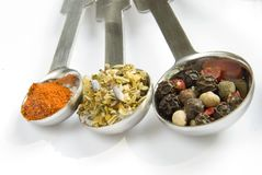 stäng upp torkade ingredienser Arkivfoton