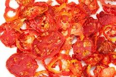 stäng upp torkade tomater Arkivfoton