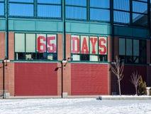 Stänga sig in på baseballinvigningsdag Royaltyfri Foto