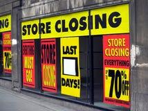 stängande lager Royaltyfri Bild