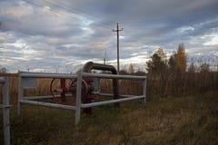 Stängd av ventil för disconnected olje- pump Ryssland Bashneft, Rosneft royaltyfri foto