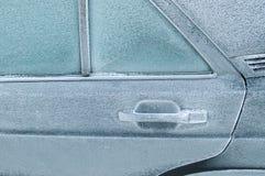 stängd bakdörr som frysas arkivbilder