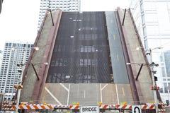 Stängd bro i den Chicago staden Royaltyfri Foto
