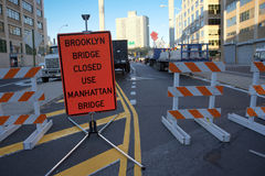 Stängd Brooklyn bro Royaltyfri Fotografi