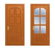 stängd dörr Arkivfoto