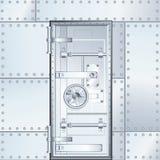Stängd dörr för bankvalv också vektor för coreldrawillustration Fotografering för Bildbyråer