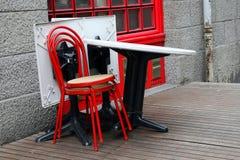 stängd fransman för cafe Arkivbilder