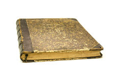 Stängd gammal bok Arkivbilder