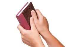 stängd handanteckningsbok Arkivbild
