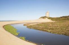 Stängd lagunöppning till havslandskapet Royaltyfria Bilder