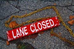stängd lane Royaltyfria Foton