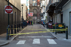 Stängd Philadelphia sidogata Royaltyfri Fotografi