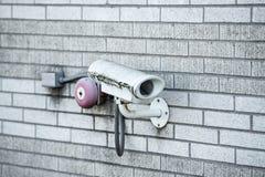 Stängd säkerhet - kamera för strömkretstelevisionCCTV royaltyfria foton