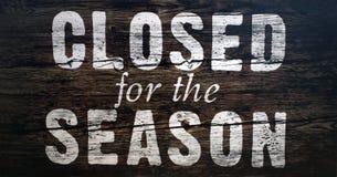 stängd säsong Arkivbild